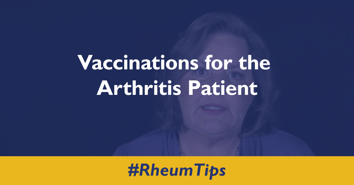 Vaccinations For The Arthritis Patient