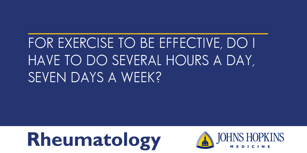For Exercise to Be Effective, Do I Have to Work Out Seven Days a Week?